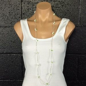 Jewelry - Sweet Long White Flower Necklace